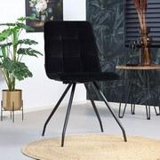 Stuhl-Set Lisa 2-er Set Schwarz - Schwarz, Basics, Textil/Metall (44/87/58cm) - MID.YOU