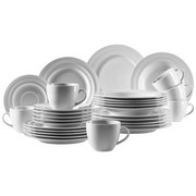 Kombiservice 30-Tlg. Kombiservice Valas - Weiß, Basics, Keramik (33,5/30/31,5cm)