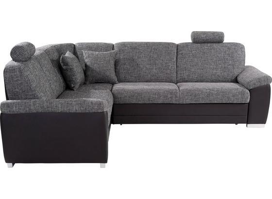Sedací Souprava Sava - šedá/černá, Konvenční, dřevo/textil (212/262cm)