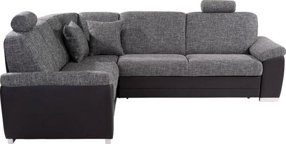 Sedací Souprava Sava - šedá/černá, Moderní, dřevo/textil (212/262cm)