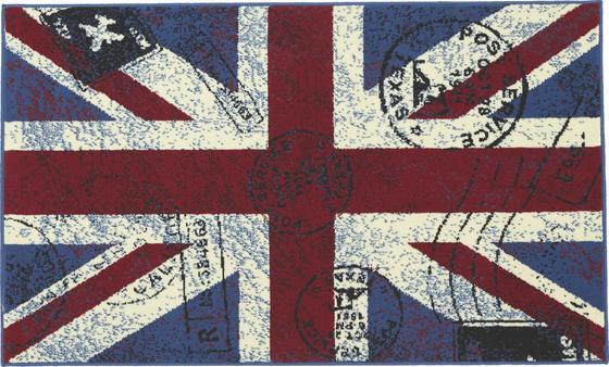 Webteppich Great Britain 100x160 cm - Blau/Rot, KONVENTIONELL, Textil (100/160cm)