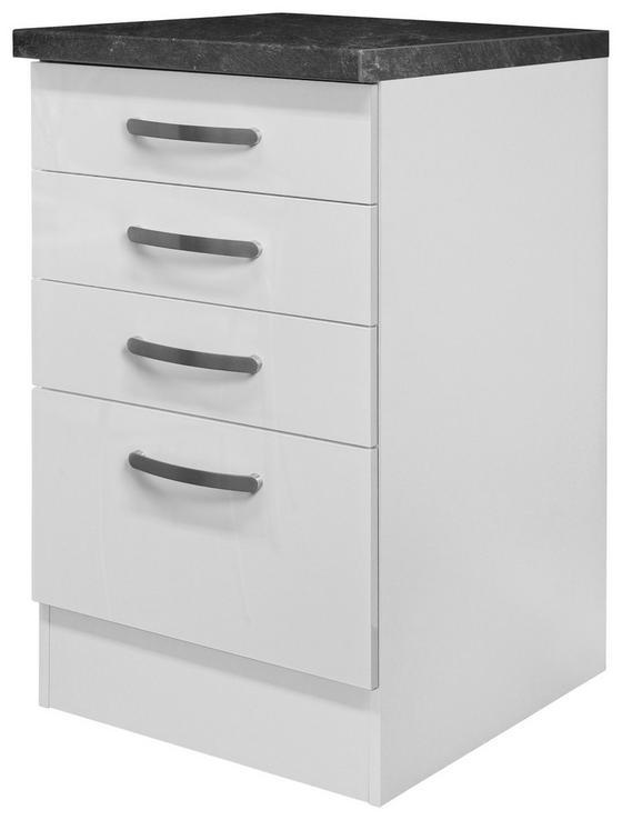 Spodní Skříňka Se Zásuvkami Alba  Ussa 50 - bílá, Moderní, dřevěný materiál (50/86/60cm)