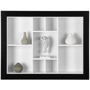 Wandregal Arizona B: 90,5 cm - Schwarz/Weiß, MODERN, Holzwerkstoff (90,5/70,5/13,7cm)