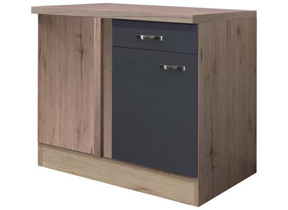 Eckunterschrank Shadow   Uebe110 - Grau, MODERN, Holzwerkstoff (110/85/60cm)