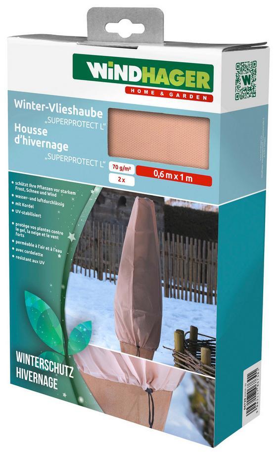 Vlies-pflanzenhülle Höhe 100cm - Beige, KONVENTIONELL, Textil (60/100cm)