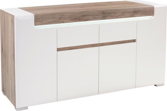Komoda Sideboard Toronto - farby dubu/biela, Moderný, drevený materiál (190/85/42,2cm) - OMBRA