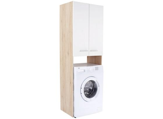 Überbauregal Wash In Eiche Sanremo und Weiß - Eichefarben/Weiß, KONVENTIONELL, Holzwerkstoff (65/185,3/38cm)