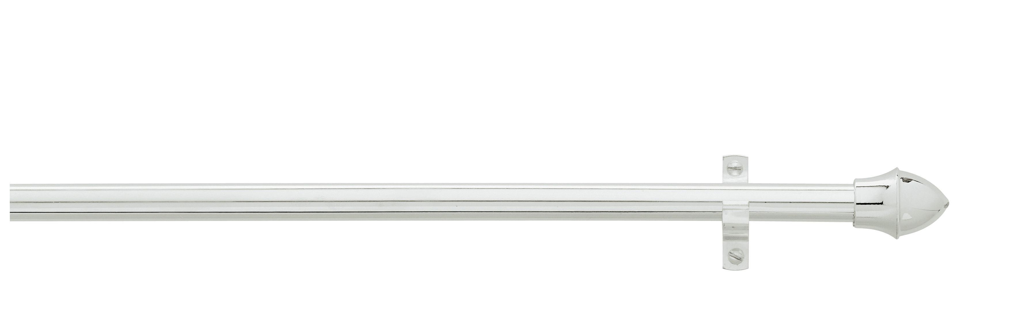 Vitragenstange Weiß - Weiß, KONVENTIONELL, Kunststoff/Metall (55cm) - MÖBELIX