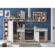 Kuchyňský Blok Madeira - bílá/barvy dubu, Moderní, dřevěný materiál (290/206/60cm)
