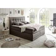 Boxspringbett Darwin 2 ca. 180x200 cm - Silberfarben/Grau, KONVENTIONELL, Holzwerkstoff/Textil (180/200cm) - Carryhome