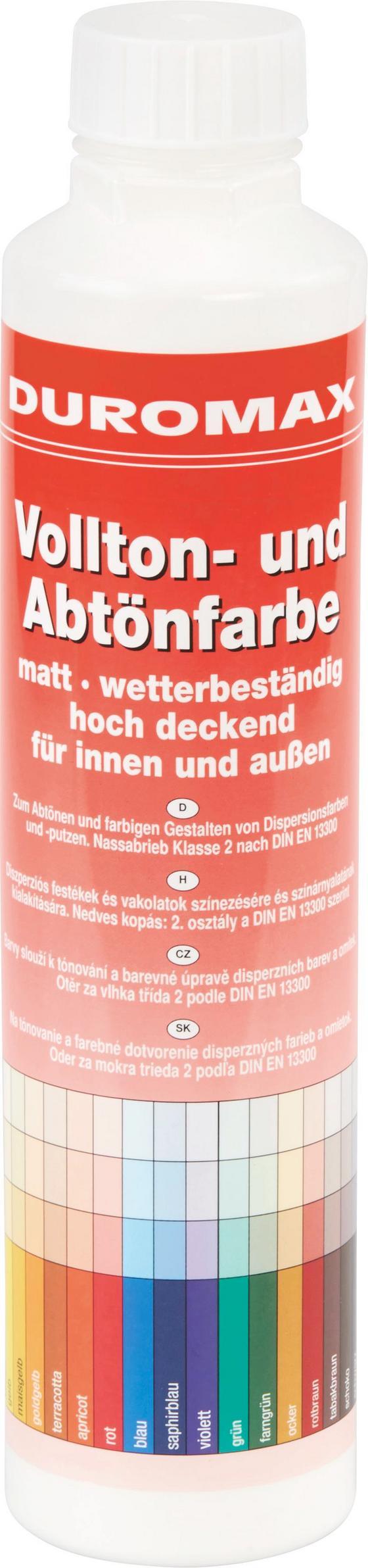 Abtönfarbe Weiß Matt - KONVENTIONELL (0,75l)