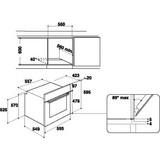 Einbaubackofen IFW 3841 JH IX - Edelstahlfarben/Schwarz, Basics, Glas/Kunststoff (59,5/59,5/56cm) - Indesit