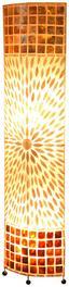 Stehleuchte Muschel - Braun, MODERN, Textil/Weitere Naturmaterialien (36,5/17/149cm)