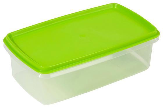 Frischhaltedose Magerit 1,5 Liter - Transparent/Grün, KONVENTIONELL, Kunststoff (13,9/7,6/23,8cm) - PLAST TEAM