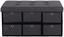 Lavice Bench - šedá/černá, Moderní, kompozitní dřevo/textilie (76/38/38cm)