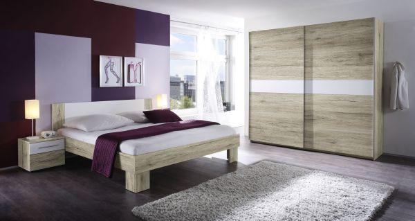 Hálószoba Program Marvic - tölgy színű, modern, faanyagok (215/210/62cm)