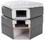 Boxspringbett Allegra 160x200 Pastellblau - Pastellblau/Schwarz, KONVENTIONELL, Holz/Holzwerkstoff (160/200cm)