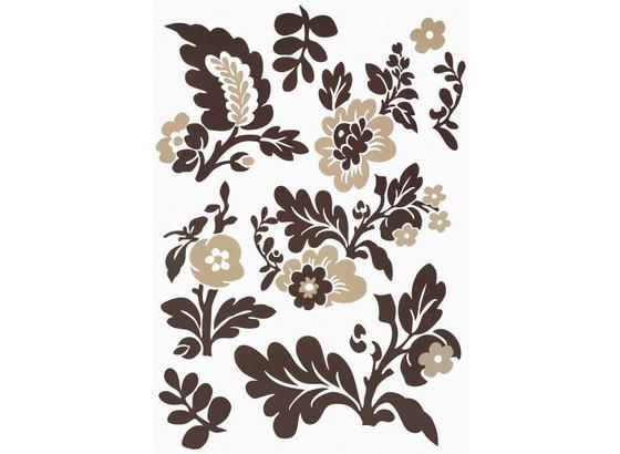 Nálepka Dekorační Kvety - hnědá/béžová, umělá hmota (50/70cm) - Mömax modern living