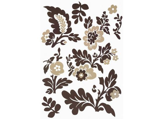 Ozdobné Nálepky Kvety - hnedá/béžová, plast (50/70cm) - Mömax modern living