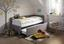Výsuvná Postel Elm - světle šedá, Konvenční, kov/textil (218/44/104cm) - Premium Living