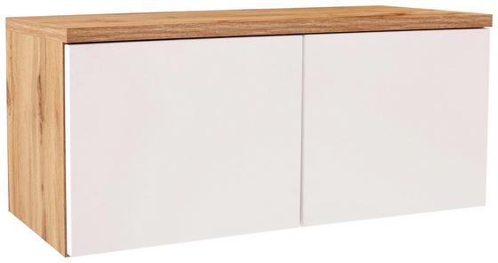 Aufsatzschrank Space New - Eichefarben/Weiß, MODERN, Holzwerkstoff (100/40/35cm)
