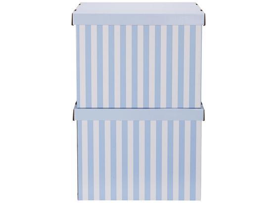 Box S Víkem Jimmy - bílá/modrá, karton (42/32/32cm) - Mömax modern living