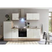 Küchenblock Andy Inkl E-Geräte+spüle - Eichefarben/Weiß, Basics, Holzwerkstoff (270/195/60cm) - Xora