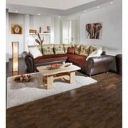 Wohnlandschaft in L-Form Elephant 280x245 cm - Wengefarben/Dunkelbraun, KONVENTIONELL, Textil (270/245cm) - James Wood