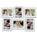 Bilderrahmen für 6 Bilder - Weiß, MODERN, Kunststoff (52/36/2,5cm)
