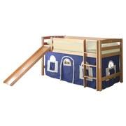 Spielbett Theo R 90x200 cm Weiß/Blau - Blau/Buchefarben, Natur, Holz (90/200cm) - MID.YOU