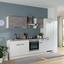 Küchenblock Pn 80/pn 100 - Magnolie/Weiß, MODERN, Holzwerkstoff/Kunststoff (270cm) - Pino