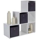 Raumteiler Pisa 5 ca. 112/114/35cm Weiß - Weiß/Grau, MODERN, Holzwerkstoff (112/114/35cm)