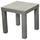 Beistelltisch Normen - Grau, MODERN, Holzwerkstoff (39/40/39cm)