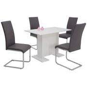 Tischgruppe Ines   Weiß/Grau, MODERN, Holzwerkstoff/Textil