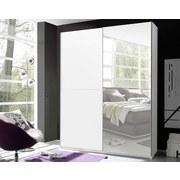 Schwebetürenschrank mit Spiegel 170cm Starter, Weiß Dekor - Weiß, Design, Glas/Holzwerkstoff (170/195/59cm) - Carryhome