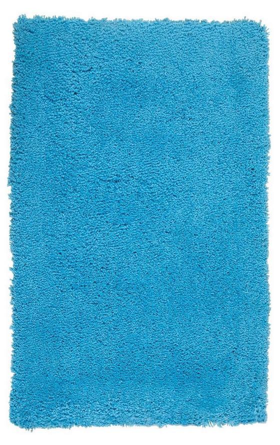 Hochflorteppich Dodo 60x90 cm - Türkis, KONVENTIONELL, Textil (60/90cm) - Luca Bessoni