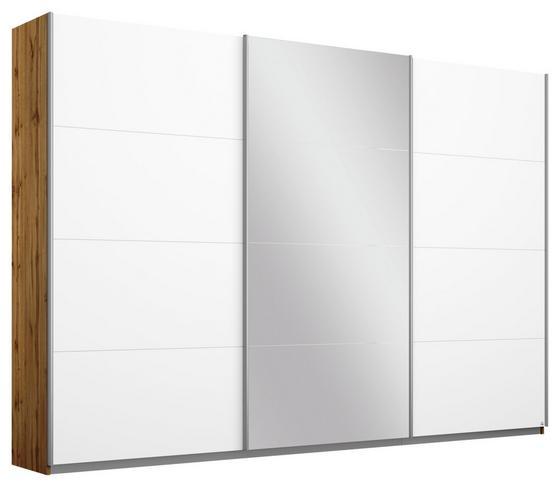 Schwebetürenschrank Belluno 271 cm Wotan/Weiß/sp. - Eichefarben/Weiß, MODERN, Holzwerkstoff (271/210/62cm)