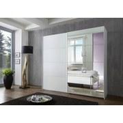 Schwebetürenschrank Dubai B: 225 cm Weiß - Weiß, Basics, Holzwerkstoff (225/210/65cm)