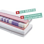 Taschenfederkernmatratze Gelfeel Deluxe 90x200cm H2 - Weiß, KONVENTIONELL, Textil (90/200cm) - Primatex Deluxe