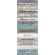 Keilrahmenbild Colorful Rules I - Blau/Braun, Holz/Holzwerkstoff (27/77/2cm)