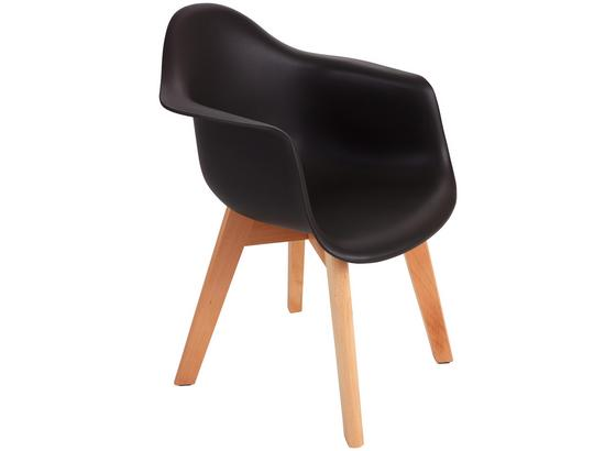 Kinderstuhl Bambino Style Grau - Buchefarben/Grau, MODERN, Holz/Kunststoff (42/57,5/30cm) - Ombra