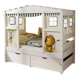 Spielbett Lio Mini 80x200 cm Weiß - Weiß/Naturfarben, MODERN, Holz/Kunststoff (80/160cm) - Livetastic