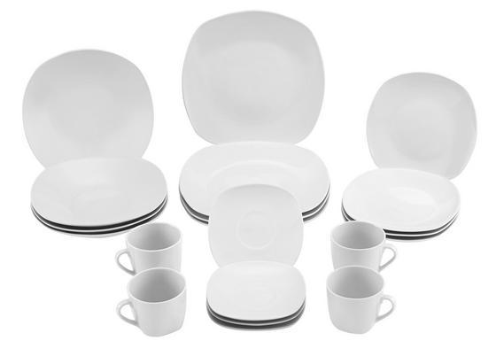 Dinnerset Bärbel - Weiß, KONVENTIONELL, Keramik - LUCA BESSONI