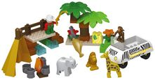 Bausteine Unico Plus Safari-Spielset - Beige/Goldfarben, Kunststoff - Unico Plus