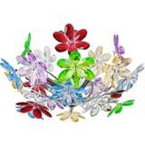 Deckeleuchte Rainbow Ø 46 cm mit Bunten Acryl-Blumen - Multicolor, KONVENTIONELL, Kunststoff/Metall (46/27cm)