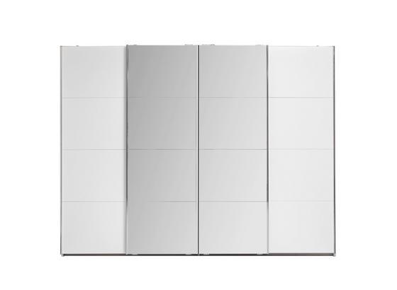 Skříň S Posuvnými Dveřmi Bensheim 361x211cm - bílá, Moderní, kompozitní dřevo (361/211/62cm) - James Wood