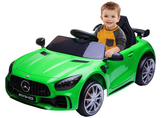 Kinderauto Mercedes Benz Gtr Amg - Grün, Basics, Kunststoff/Metall (110/67/46cm)