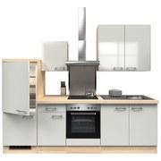 Küchenblock Abaco 270 cm Permutt - Edelstahlfarben/Perlmutt, MODERN, Holzwerkstoff (270/60cm)