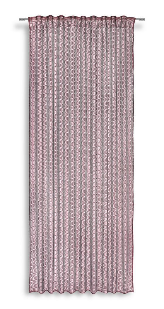 Fertigvorhang Regina - Rot, MODERN, Textil (140/245cm) - Luca Bessoni