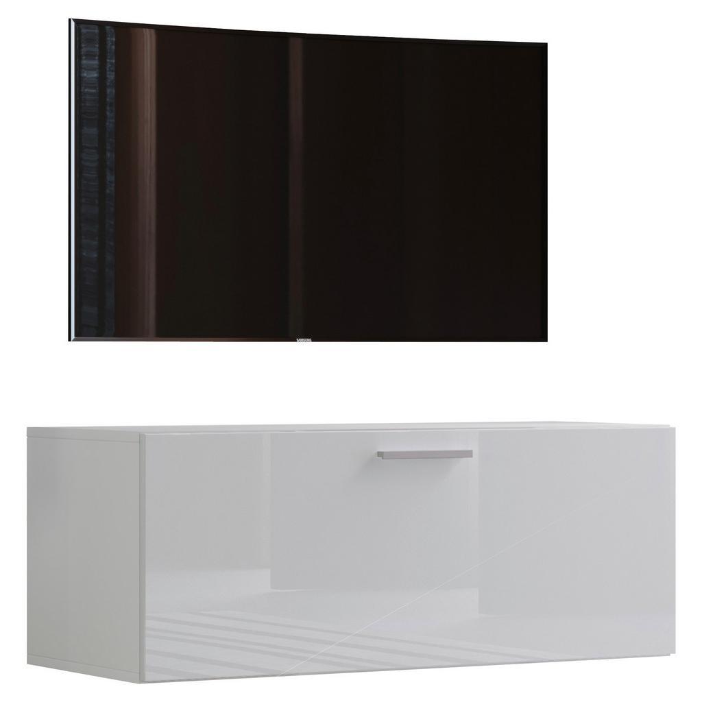 Tv - skrinka Fernso Š: 95 Cm Biela Vysoký Lesk